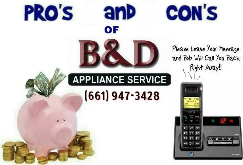 The Pros Amp Cons Of B Amp D Appliance Service B Amp D Appliance