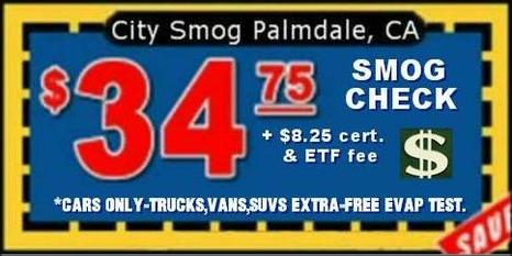 Smog Check Coupon - City Smog Palmdale, CA